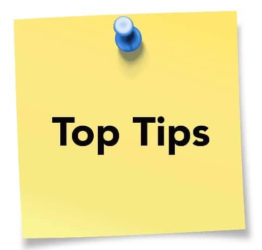 hoe tips en tops geven